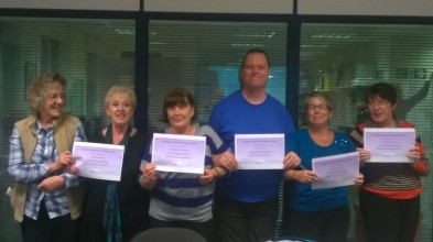 Slinkies with their certificates